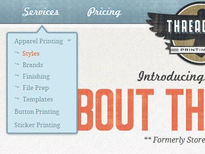 推荐一组网站设计中优秀的下拉菜单例子